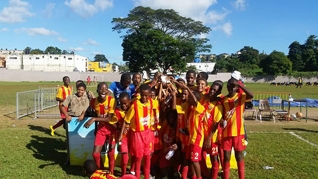 Back to Back Under 14 Champions ..Cornwall College ..We large and in charge ....